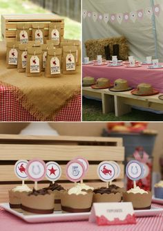 love the favor bags and burlap perfection