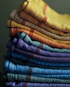 """Dyed Towels Give plain white cotton dish towels a colorful upgrade, making them pretty enough to use as napkins. Crafts editor Silke Stoddard uses iDye pellets to dye batches of them in a washing machine, then tosses them in the dryer: """"The whole process is as easy as running a load of laundry."""""""
