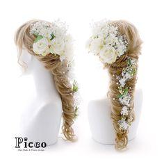 Gallery 414 . 【 結婚式髪飾り 】 . #Picco #オーダーメイド髪飾り #ウェディングドレス #結婚式 . 気品ある女性的な雰囲気のホワイトローズをメインに、小花とかすみ草でふんわりと盛ったラプンツェル風アレンジ ところどころに顔を出すリーフが、さらにナチュラル感をプラス✨ ウェディングシーンを華やかに演出します . . . . #ホワイトローズ #ナチュラル #かすみ草 #ラプンツェル #結婚式ヘア . デザイナー @mkmk1109 . . NEWS 新商品アップしました‼️. 詳しくはホームページまで . . #ヘッドパーツ #髪飾り #ヘッドドレス #花飾り #造花 #ドレス #カラードレス #natural #princess #rapunzel #結婚式フォト #結婚式前撮り #結婚式準備 #ブライダルヘア #ウェディングヘア #ウェディング #ウェディングアイテム #ウェディングフォト #ウェディング小物 #follow #hairstyle
