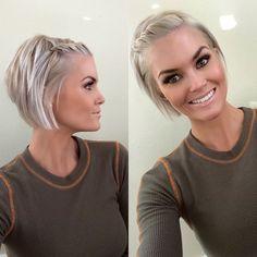 @krissafowles short blonde hair #UpdosShortHair #shorthairstylesupdo