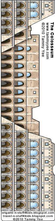 Roma, Italia: costruire l'Arco di Costantino e il Colosseo :: La corsa n 'Stuff 4 Kids