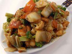 gambas em chapa quente... comida chinesa