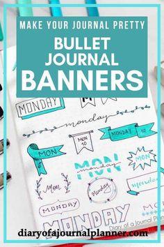 Easy bullet journal banners, bullet journal banners headers, bullet journal banners step by step, bullet journal banners how to, bullet journal banners to draw, #bulletjournal #bulletjournalideas #bulletjournalspread #bulletjournaling #bulletjournalinspiration #bujo #bujojunkies #bujolove #bujoinspire #bujocommunity #bulletjournaljunkies #bujoideas #bujoinspiration #planner #planneraddict #plannergirl #plannerideas #plannerpages