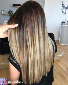 Brown Hair Balayage, Brown Blonde Hair, Brunette Hair, Hair Highlights, Dark Hair, Bilage Hair, Langer Bob, Gorgeous Hair Color, Blonde Hair Looks