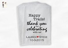 Happy Trails Western Wedding Favor Bags for Candy Buffet in Black and Red - Personalized Set of 25 Paper Bags (0145) - Wedding favors (*Amazon Partner-Link)