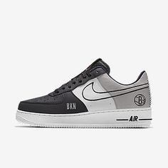 Nike Air Force 1 Low Premium iD (Brooklyn Nets) Men's Shoe Custom Sneakers, Custom Shoes, Nike Air Force, Nike Shoes, Sneakers Nike, Baskets Nike, Nike Af1, Fresh Shoes, Only Shoes