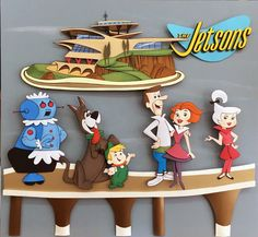 The Jetsons - Paper Sculpture by Vlady and Helena Keiko - Exposição Cartoon Journey in Paper