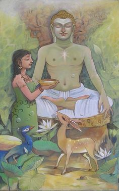 Online platform for Contemporary and Modern Art, Paintings, where next generation artists have showcased varied forms of contemporary art in all mediums. Indiana, Buddhist Texts, Gautama Buddha, Buddha Art, Hindu Art, Indian Paintings, Contemporary Paintings, Folk Art, Modern Art