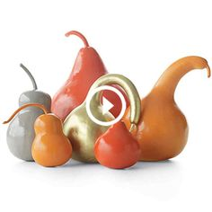 Decorative Painted Gourds for Fall