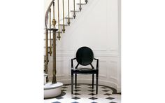 Design within Reach Louis Ghost Chair, Set of 2  this would to go anywhere in my traditional home, but I just love it.  Very sharp on that black and white floor!
