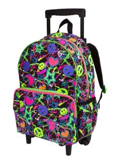 Glitter Graffiti Roller Backpack