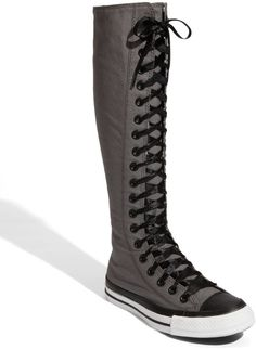 Converse Knee High Boots | Converse Chuck Taylor® Xx Hi Knee High Sneaker in Gray (charcoal ...