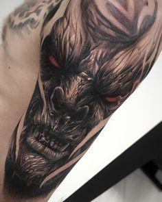 Victor Portugal Satanic Tattoos, Evil Tattoos, Scary Tattoos, Cool Tattoos For Guys, Badass Tattoos, Skull Tattoos, Body Art Tattoos, Hand Tattoos, Tatoos