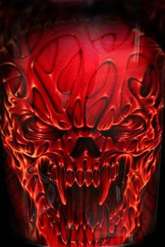airbrush art Harley fender