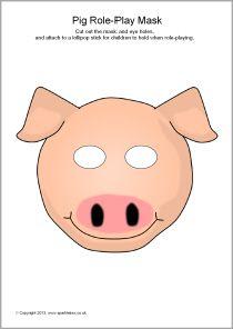 Pig role-play masks (SB9258) - SparkleBox