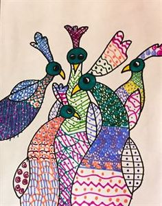 Check out student artwork posted to Artsonia from the Gond Art project gallery at The Academy For Excellence Through The Arts / P.S. 303.