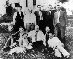 Al Capone (seated, center) with associates, including racketeers Jim Emery and Frankie La Porte in Chicago Heights, c. 1929.