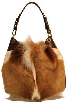 Springbock Fur Handbag by Bacami