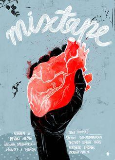 Mixtape volume 1 Cover - designed by Prabha Mallya