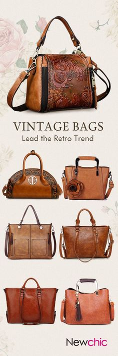 Vintage Bags Vintage Leather Women Bags,Used For Dating,Office,Shopping,Travelling. Vintage Purses, Vintage Bags, Vintage Handbags, Vintage Leather Bags, Vintage Watches, Diy Vintage, Mode Vintage, Vintage Style, Sacs Tote Bags