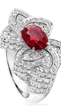 #Louis Vuitton diamond and Ruby ring from their Jewelry collection  #Luxurydotcom