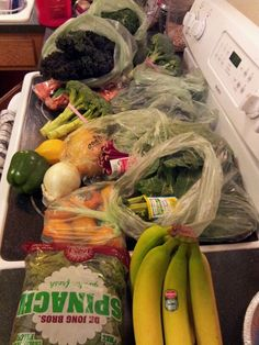 Nothing left at the produce store! Enough ingredients for >3 smoothies and 1 big batch of juice!