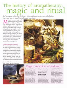 The history of Aromatherapy magic and ritual