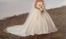 women's ivory silk wedding dress size 10