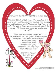 This is one lesson in my Valentine's Day Mini Unit.  This lesson focuses on comparisons.  This lesson encourages creativity by getting children to ...