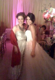 """Actress Jenna Dewan wore a custom Reem Acra wedding dress when she married actor Channing Tatum in Malibu on July 11, 2009. Mrs. Acra was a guest at the wedding.  """"I made her gown,"""" she says. """"It was a dream.""""  Jenna's strapless gown had a sweetheart neckline and feathered skirt. """"Her input on what she envisioned for her gown was essential. I am thrilled to have made her dream wedding gown come true."""" Reem Acra gowns are sold at The Bridal Salon at Saks Jandel."""