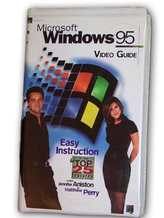 """To make the Windows 95 instructional video entertaining, Microsoft hired Matthew Perry and Jennifer Aniston to star in """"the world's first cyber sitcom."""""""