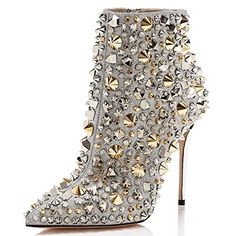 FSJ Women Fashion High Heel Ankle Boots Rivets Pointed To... https://www.amazon.com/dp/B07FKG6LWT/ref=cm_sw_r_pi_dp_U_x_2pN-BbDK7Y2Y0 Entrance, Ankle Boots, Ankle Booties, Entryway, Appetizer, Shoe Boot