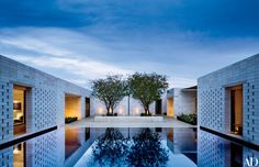 Joann and Paul Delaney's tranquil retreat outside Phoenix was created by the architecture firm of Marwan Al-Sayed and decorated by Jan Showers & Assoc. | archdigest.com