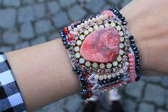 Street style!  #bohochic #coachella #red #armcandy #bracelet #cuff #boho #modern #bohemian #boholuxe #lanchejewelry  https://goo.gl/SGkRzE