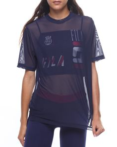 b4d5a96d0a15a Zen Double Mesh Crop Layer Top Women's Tops from Fila. Find Fila fashion  &