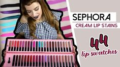 SEPHORA Cream Lip Stains ● 44 αποχρώσεις Lip swatches & Review & GIVEAWA...