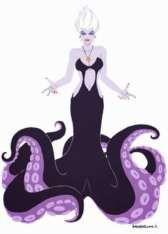 Disney Villains ºoº ºoº I love Ursula Disney Pixar, Film Disney, Disney Fan Art, Disney Villains, Disney Animation, Disney And Dreamworks, Disney Style, Disney Love, Disney Magic