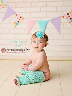 Aqua Flower Headband, Lace, Newborn Headband, Baby Headband, Infant Headband, Photography Prop, Holiday, Baptisms, All Ages, Baby Shower - pinned by pin4etsy.com