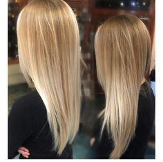 Light blonde color melt