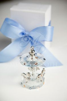 Μπομπονιέρα βάπτισης γυάλινο carousel Baptism Favors, Christening, Perfume Bottles, Baby Boy, Crystals, Kids, Candles, Souvenir, Young Children