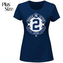 HAVE TO HAVE THIS! Women's New York Yankees Derek Jeter PLUS Final Season Logo T-Shirt