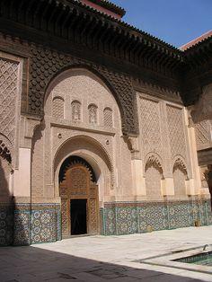 Madressa in Marrakech, Morocco
