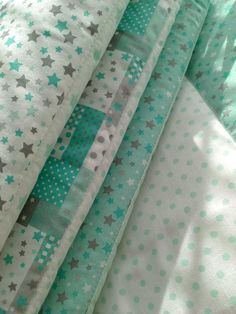 Hniezdo,mantinel do postieľky*mint* / designhome - SAShE. Sewing For Kids, Curtains, Home Decor, Scrappy Quilts, Insulated Curtains, Homemade Home Decor, Blinds, Draping, Decoration Home