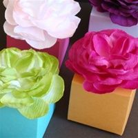Flower top boxes (Party Top Paper Flowers)