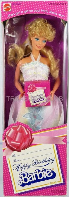 Happy Birthday Barbie Doll #1922 New NRFB 1982 Mattel, Inc. 3+ in Other | eBay #barbie #oldschool #toys