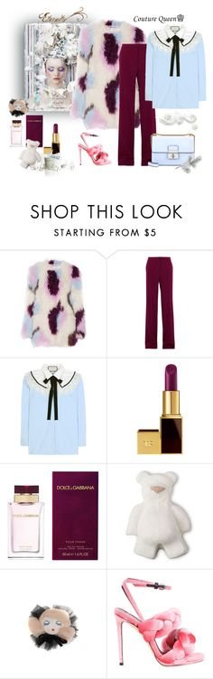 """""""Queen of the day"""" by juliabachmann ❤ liked on Polyvore featuring Elizabeth and James, STELLA McCARTNEY, Gucci, Tom Ford, Dolce&Gabbana, Morgan Lane, Marco de Vincenzo and KING"""