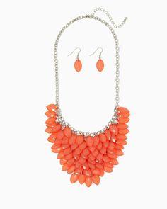 charming charlie | Valere Bib Necklace Set | UPC: 450900526207 #charmingcharlie