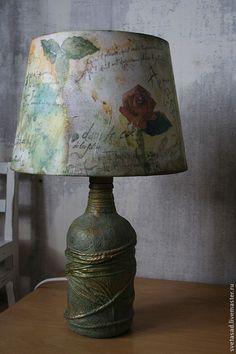 """Купить лампа настольная """" Воспоминания"""" - освещение, лампа настольная, интерьер, Декупаж, декупажные материалы"""