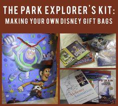 Park Explorer's Kit Making Your own Disney Gift Bags