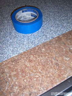 Make over your counters with contact paper--perfect for renters or for a cheap home makeover. Less than $10!